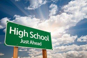 High School Ahead Road Sign
