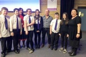 Doug Allan meets pupils