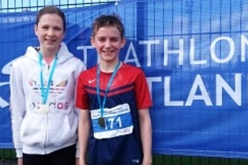 Scottish Schools Aquathon Medals